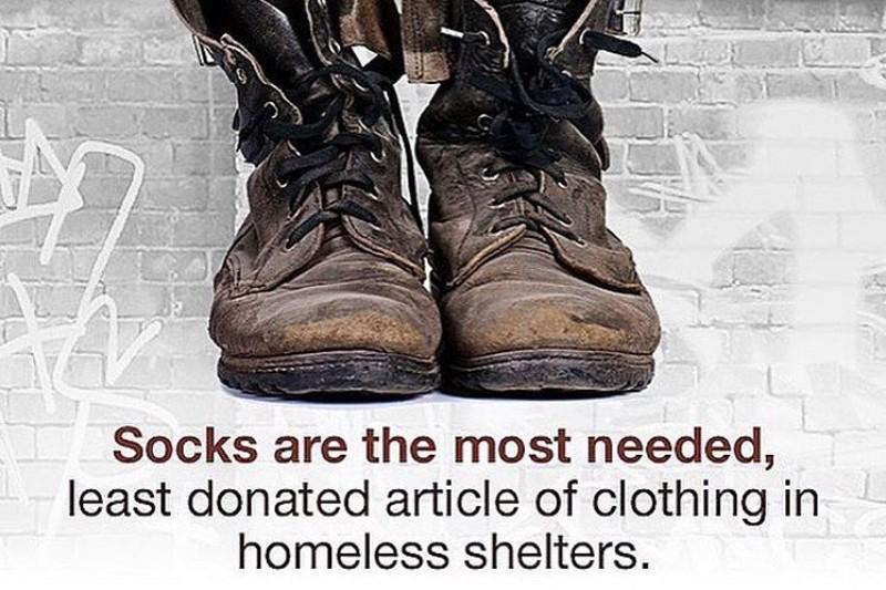 Socks for the Homeless Drive