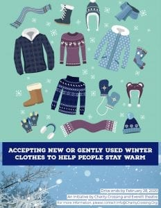 Winter Clothes Drive flyer