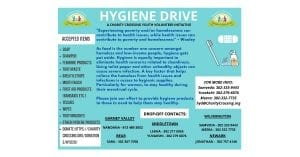 Hygiene Drive 2020 Flyer
