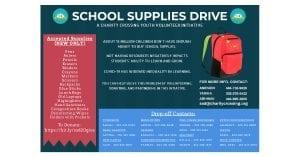 School Supplies initiative flyer