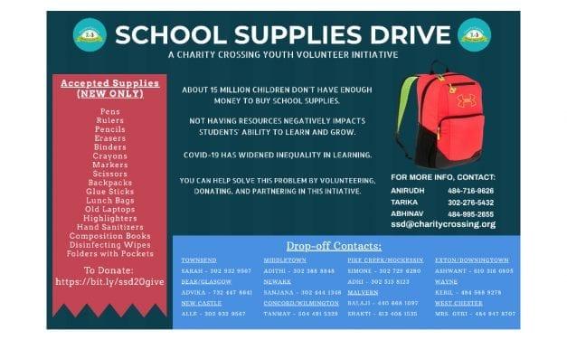 School Supplies Drive 2020