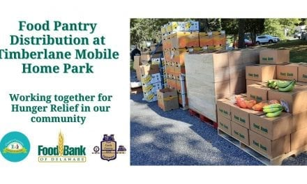 Food Pantry Distribution at Timberlane Mobile Home Park
