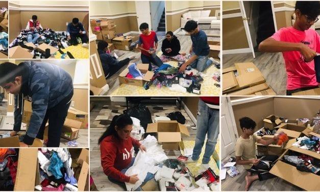 Sorting Walmart Donations