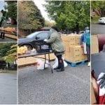 Emergency food pantry distribution at Bethal Villa Wilmington