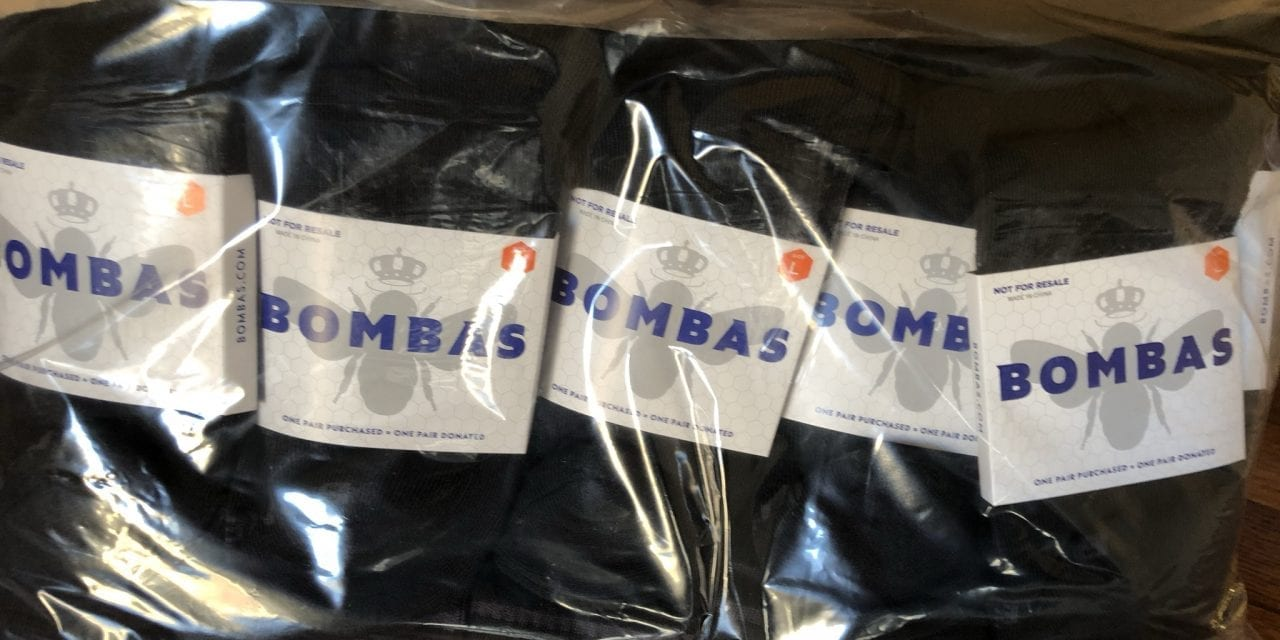 3,750 pairs of socks donated by Bombas