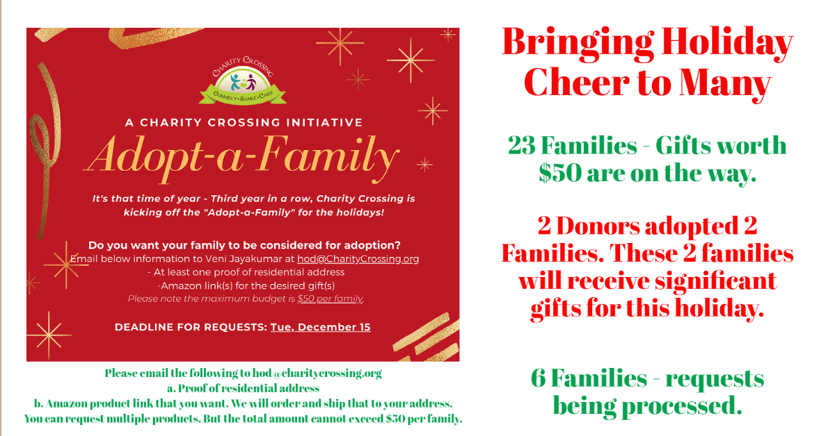 Adopt A Family for Holidays