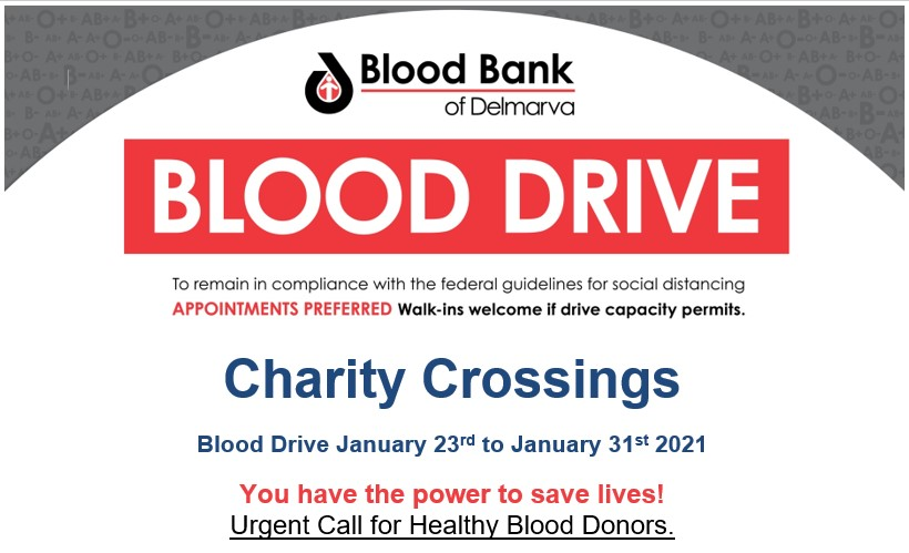 Blood Donation Drive at Blood Bank of Delaware